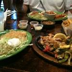 more than enough chicken fajitas for one