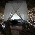 one of the 2 bedrooms at bamboo treehouse