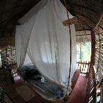 bedroom at bamboo treehouse