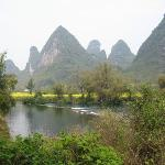 15 minute walk to Yulong river from the hotel