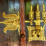 Authentic details of the doors