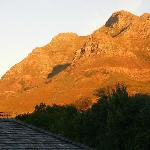 Devils Peak from walkway to Tree House