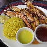 Yummy grilled prawns
