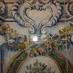 tiles on the wall in the restaurant