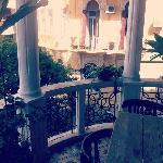 The breakfast balcony