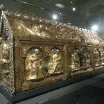 Gold box containing remains of St. Servatius