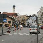 Bad Aibling- just outside of front door of hotel/dining room