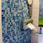 Very clean but simple bathroom