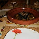Tajine with beef and dates.