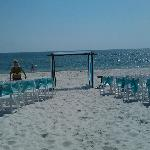 Wedding on the beach. Driftwood Inn, Mexico Beach, FL