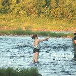 My daughter fly fishing