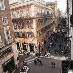 Vista desde la habitacion Via del Corso hacia Popolo