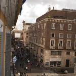 Vista desde la habitacion Via del Corso hacia Victorio Emanuelle