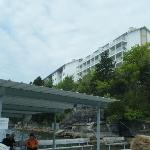 View of hotel from swimming platform