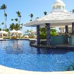 Pool swim-up bar!