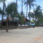 View of the hotel / restaurant from the beach