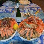 Deux plateaux de fruits de mer dégustés sur place