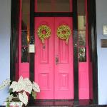 A welcoming front door