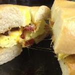 New Breakfast bagel sandwich!