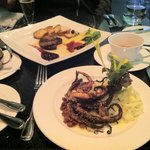 Fois Gras, and Octopus with Fennel slaw