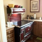 Kitche: Leigh and Jim's amazing stove (they have a matching refrigerator too)