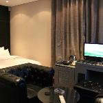 Bed and PCs, Room 702
