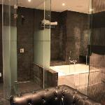 Room 702, hot tub, and shower cubicle