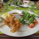 Oriental shrimp appetizer plate - delicious!!