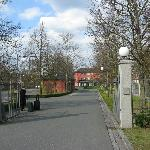 "The entrance is the ""Allee"" lined with trees"