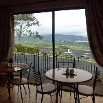 sala colazione che guarda sulla Baia di Dungarvan