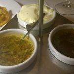 Salsa vinagreta, con orégano y allioli