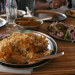 The Dum Biryani and Mutton rogan josh