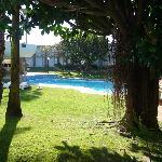 Zona de la piscina desde la habitacion