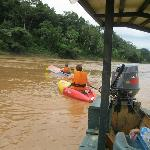 Kayaking on the Tambopata River