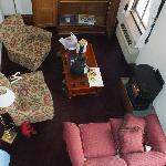 Picture of the living room from the upstairs loft