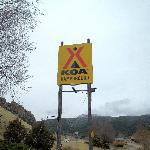 KOA sign from HWY