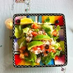 Avocado and bay shrimp salad - delicious!