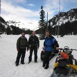 Alex, Martin and Peter before we headed up on to the Pemberton Ice Cap
