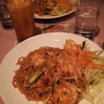 Pad Thai with Thai Iced Tea