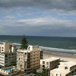 view towards surfers