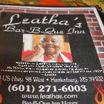 Menu from Leatha's
