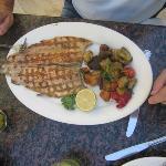 Trucha con vegetales