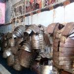 """Roman Armours at the """"School of Gladiators"""" on the Appian Way"""