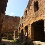 Ostia Antica, old street and insula (roman times condominium building)