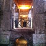 The undergrounds under the Coliseum Rome