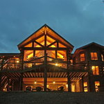 White River Lodge at night