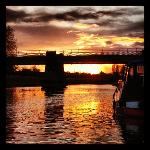 Sunset over the Ouse at York Museum Gardens