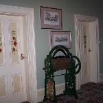 Decorated doors to the rooms