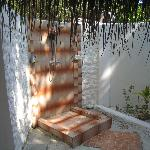 Open-air shower - wonderful!
