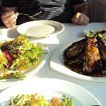 calamari salad, lamb ribs